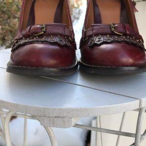 White Mountain Shoes - White mountain burgundy leather pumps